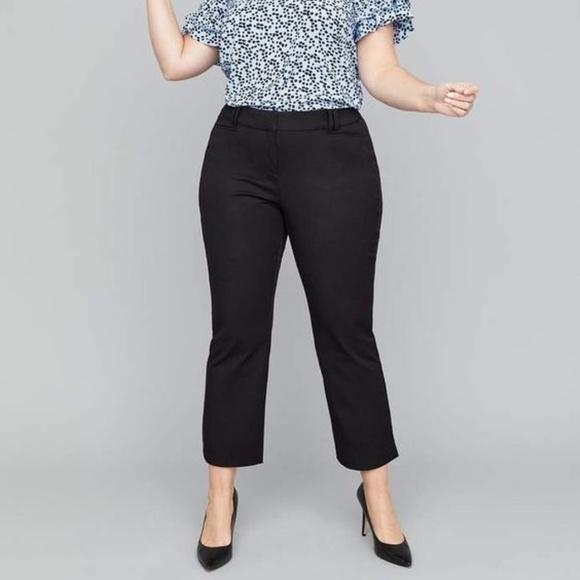APT. 9 black cropped capri pants plus size 18